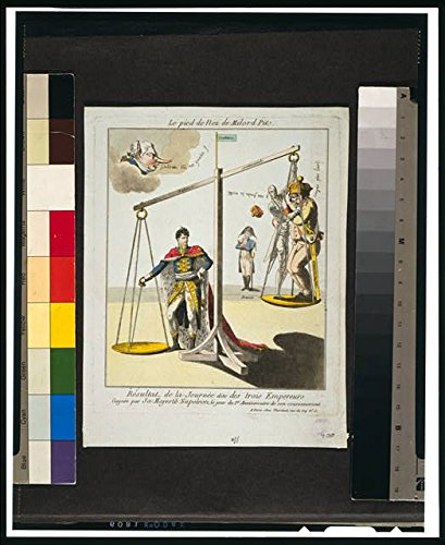 Photo: Le pied de Nez de Milord Pit,1805,Cartoon,Napolean I,Ermine Robe,Scale,Wreath (Ermine Robe)
