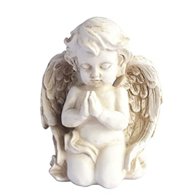 Kneeling Praying Cherub Statue Angel Statue Figurine Indoor Outdoor Home Garden Decoration Wings Angel Statue Sculpture Memorial Statue (Kneeling Praying Cherub) : Garden & Outdoor