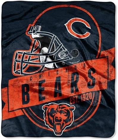 Made to Order Blanket Made with Chicago Bears Fleece Chicago Bears