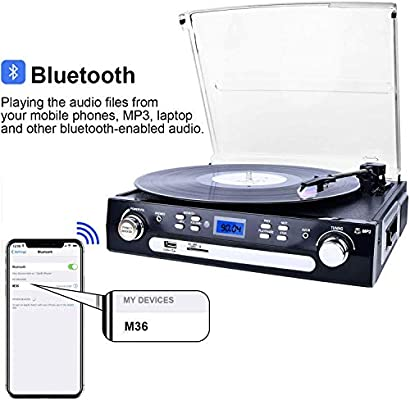 Amazon.com: digitnow. br612 a Portable USB Turntable Record ...