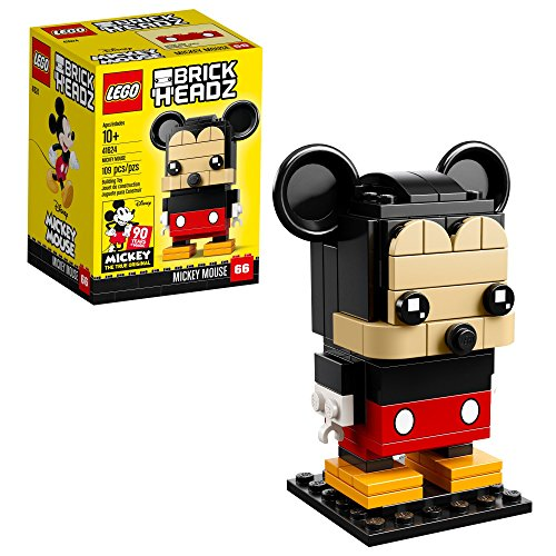 Mickey Mouse Stand - LEGO 6225330 Brickheadz Mickey Mouse 41624 Building Kit (109 Piece), Multicolor