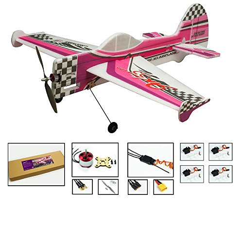 (DW Hobby 3D Flying Airplane YAK55 800mm Wingspan 4CH EPP Electric Aeroplane Remote Controlled Aircraft Need to Build Un-Assembled KIT Hobby Toy Model for Adults (E1704))