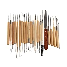 Vakind 22pcs Stainless Steel and Wooden Handle Clay Pottery Sculpture Tool New