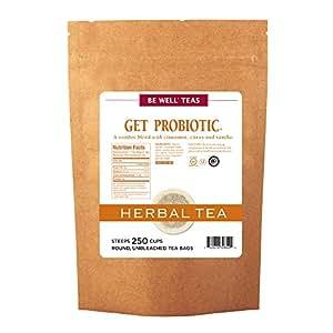 The Republic Of Tea Be Well Red Rooibos Tea - Get Probiotic - No.18 Herb Tea For Digestive Health, 250 Tea Bag Bulk
