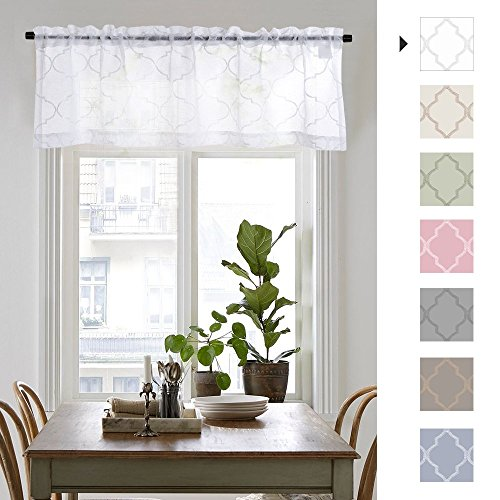 Sheer Valance for Living Room/Bedroom Voile Curtain Panel 55