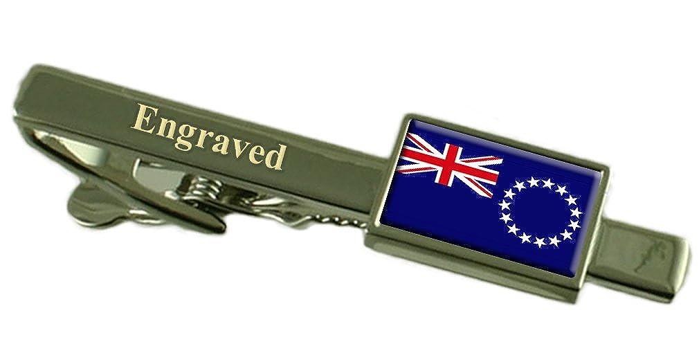 クック諸島の国旗刻印されパーソナライズされたタイクリップ   B01MRLAKFO