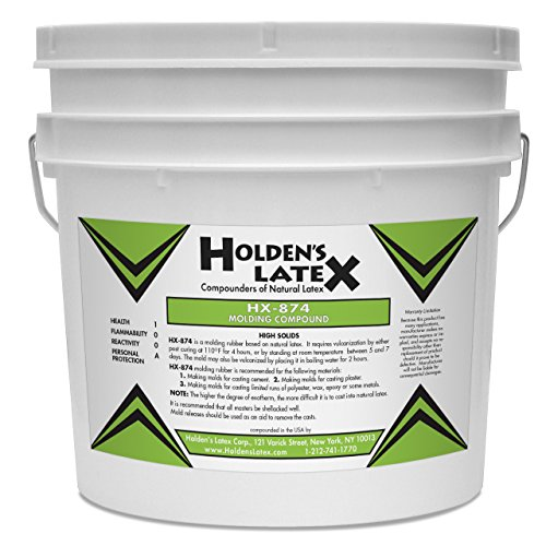 HX-874 Natural Liquid Latex Mold Making Rubber (Gallon)
