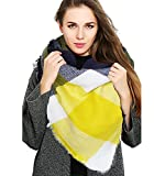 Women's Blanket Shawls Wraps, Winter Open Front Poncho Cape, Oversized Cardigan Sweater (Red-2)