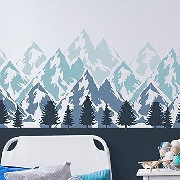 Berge Wandsticker Wand Malerei Schablone Kinderzimmer Schlafzimmer Heim  Wand Dekoration U0026 Handwerk Schablone Wandfarbe Stoffe U0026