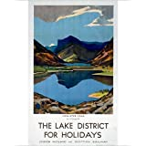 Photographic Print of The Lake District for Holidays , LMS poster, 1923-1939 by Media Storehouse