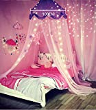 Nattey Comfort Princess Bed Canopy Curtain for