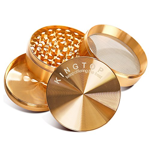Kingtop Herb Spice Grinder Large 3.0 Inch Rose Gold by KingTop (Image #2)