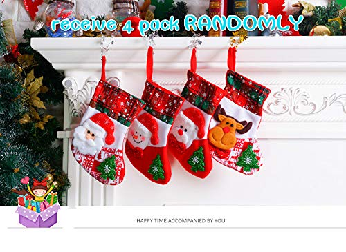 Christmas Hanging Large Socks, 4 Pcs Set,Decorations for Family Holiday Season Christmas Stock 4 Pcs Set, Decorations for Family Holiday Season Christmas Stock Lilyhouse
