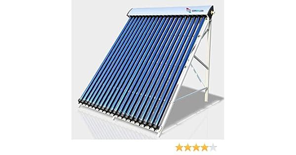 Colector solar by ECOPROPULSION colector solar térmico, colector solar de tubos, colector solar agua caliente TZ5818-15R1 código 7015: Amazon.es: Bricolaje y herramientas