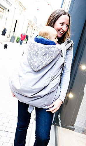 9d100f57e45 Cape and cover for stroller and sling - Lucky baby Suppori Sling (grey)   Amazon.co.uk  Baby
