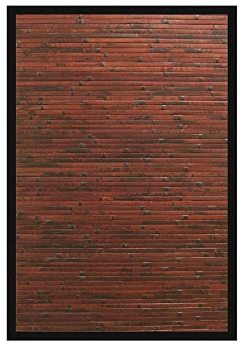 - Cobblestone Bamboo Area Rug Mahogany 2 x 3, Home Decor Area Rugs Runner for Bedroom Dining Room Living Room