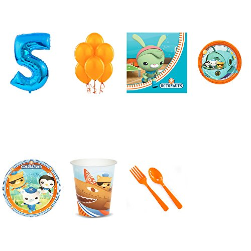 Octonauts 4th Birthday Supplies Party Pack for