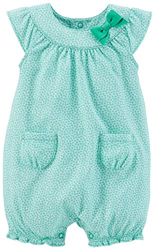 Carter's Baby Girls' Print Bubble Romper (Baby) - Turquoise - 24 Months