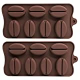 coffee bean ice tray - AxeSickle (3 per pack) 7 Cavities Coffee beans chocolate mold, Fondant Mold, Soap Mold, Ice mould.