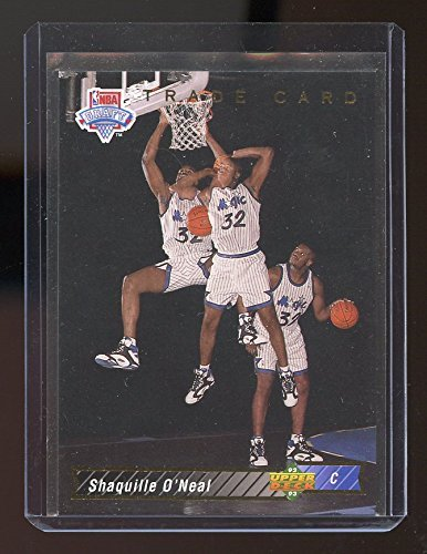 - 1992-93 Traded Upper Deck Draft #1b Shaquille O'Neal Orlando Magic Rookie Card