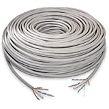 NanoCable 10.20.0502 - Cable de red Ethernet rigido RJ45 Cat.6 UTP AWG24, 100% cobre, gris, bobina de 100mts