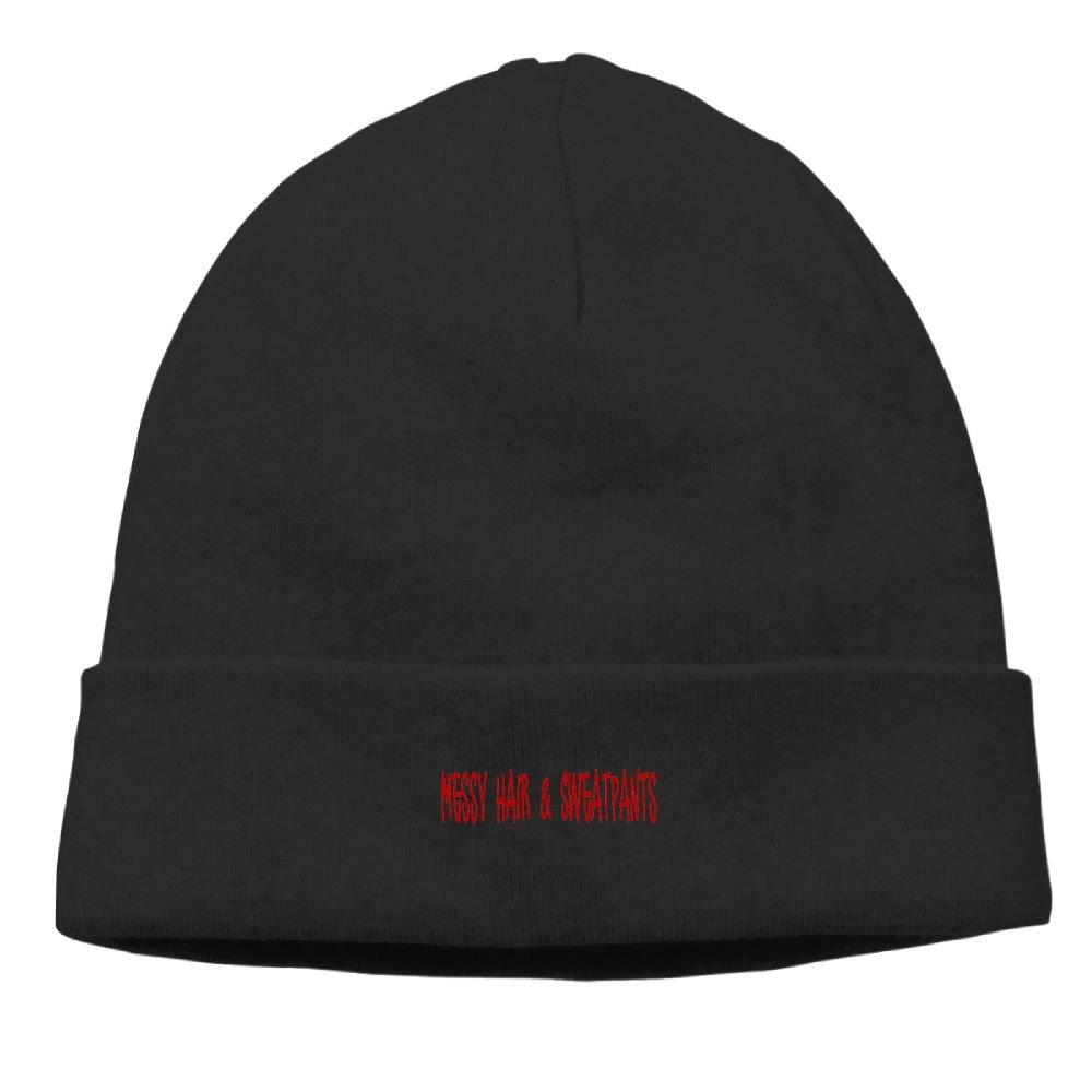 YanHIng Messy Hair /& Sweatpants Hot New Winter Hats Knitted Twist Cap Thick Beanie Hat Black