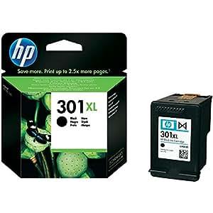 HP CH563EE 301XL - Cartucho de tinta (rendimiento: 480 páginas), color negro