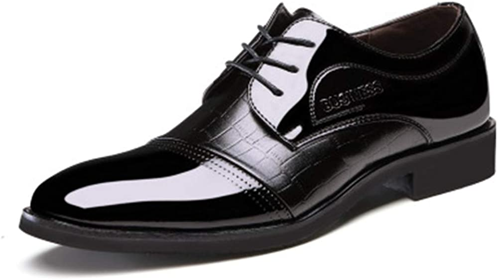 M Linson123 Leather Shoes Mens Business Dress Shoes Low to Help Mens Shoes Casual Fashion(Black Lable 42//8 D US Men)