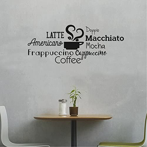 grains hot drink Wall Decal Window Sticker Handmade 1720 cappuccino drink cafe,Food Coffee