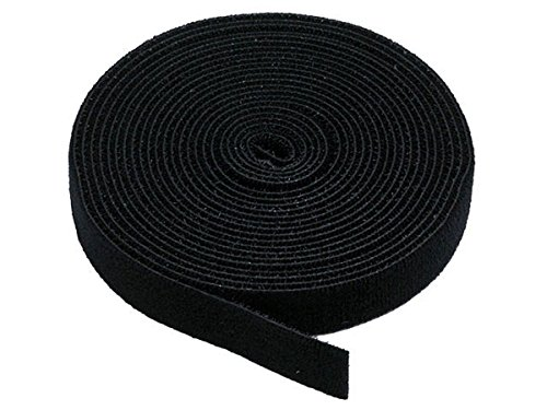 Monoprice Hook & Loop Fastening Tape 5 yard/roll, 0.75-inch - Black (105828)