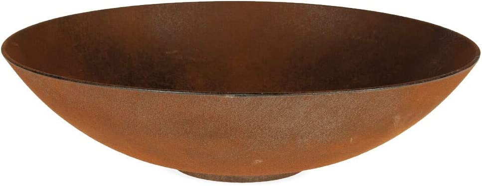 35 cm Matches21 Round Plant Bowls Stand Planters Flower Bowls Plastic Bowls Rust-Look Pack of 1-2 sizes