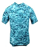 Aqua Design Mens Loose Fit Rash Guard UPF 50+ Surf Swim Rashie Shirt
