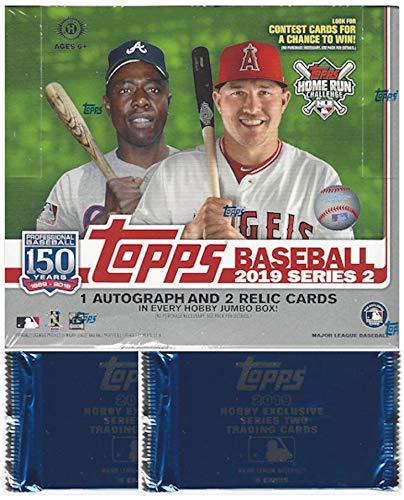2019 Topps Series 2 MLB Baseball JUMBO box (10 pks/bx, 2 bonus packs) ()