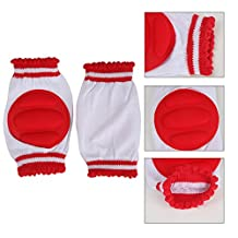 Distinct® Kids Safety Crawling Elbow Cushion Infants Toddlers Baby Knee Pad (Red)
