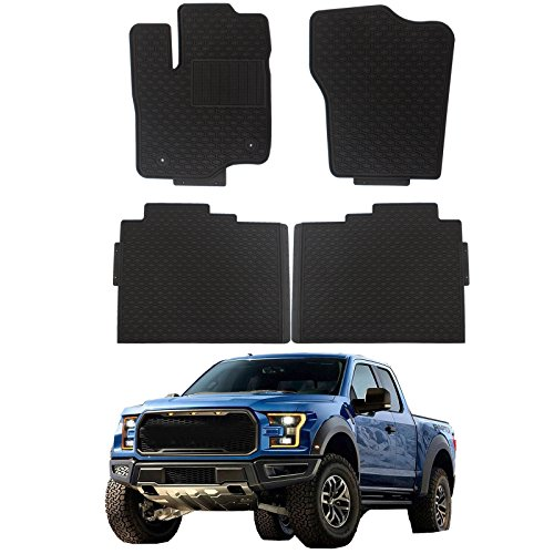 cciyu Replacement fit Ford F-150 Floor Mats,Durable Breathable Floor Liners PVC Latex fit Heavy Duty 2009-2017 fit Ford F-150 ()