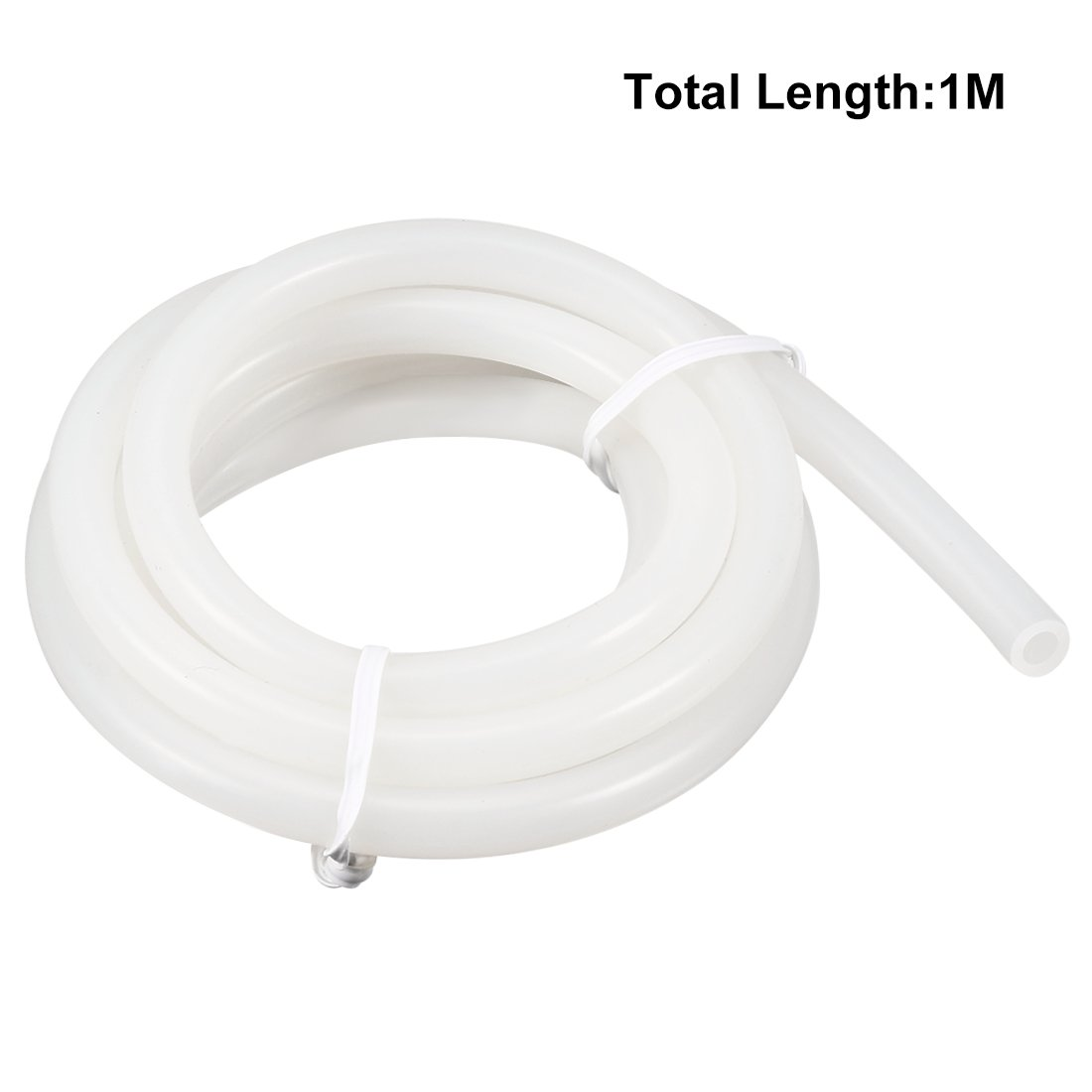 sourcingmap Silicone Tube 6mm ID X 10mm OD 3.3 Flexible Silicone Rubber Tubing Water Air Hose Pipe Translucent for Pump Transfer