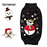 Delifur Dog Ugly Christmas Sweater Xmas Sweater Dog Christmas Snowman Sweater Cat Ugly Christmas Sweater Black Sweater for Cat Dog (L) Review
