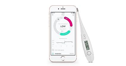 Termómetro basal para seguimiento de ovulación + aplicación gratuita (iOS y Android) de OVY
