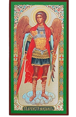 Religious Gifts Russian Orthodox Catholic Wooden Icon of Saint St Michael Archangel 5 - Michael Icon Archangel