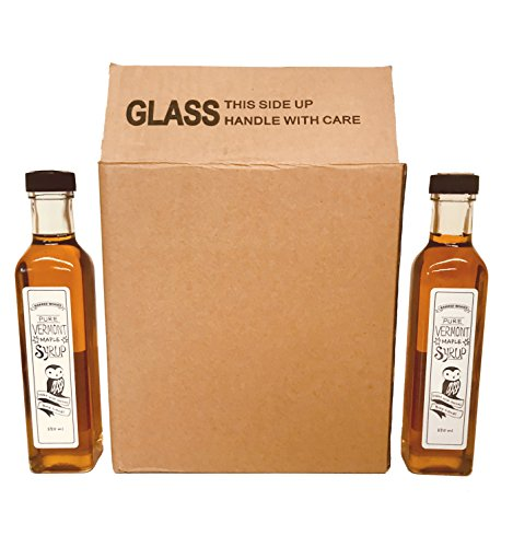 Maple Syrup Wedding Favor - Employee Gifts, Customer Gifts, Wedding Favors. Case of 12 250ml Artisan Glass Bottles of Pure Vermont Maple Syrup
