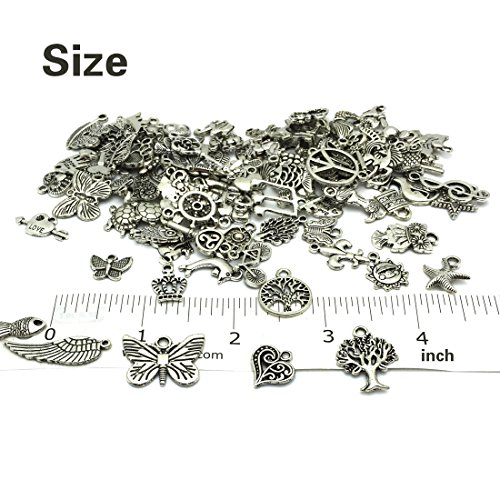 Christmas Charms JIALEEY Wholesale Bulk Lots Christmas Charm Mixed Tibetan DIY