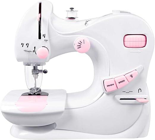 DULPLAY Casa Mini Eléctrico Máquina de Coser, Electrónica para niños Casa Máquina de la reparación para Principiantes-Blanco 23x24x10.3cm(9x9x4inch): Amazon.es: Hogar