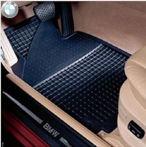 BMW All Weather Front Rubber Floor Mats 325 330 Coupe (2000-2006) - Black (Best Looking Bmw 3 Series)