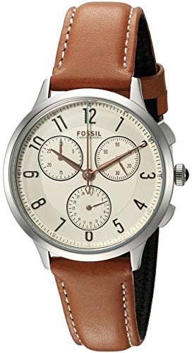 Fossil Women's CH3014 Abilene Chronograph Watch With Dark Brown Leather Band