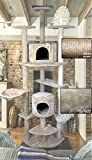 Hiding Cat Tree 79'' Tree Tower Condo Furniture Scratch Post Kitty Pet House Play Furniture Sisal Pole and Stairs (Beige)