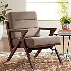 Farmhouse Accent Chairs Moderno Walnut and Light Brown Modern Accent Chair – Studio 55D farmhouse accent chairs