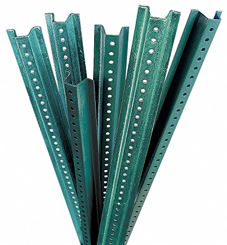 Brady U-Channel Sign Post - Green, Baked Enamel on Hot-Rolled, High-Tensile Strength Steel, 8' Length - 97204 ()