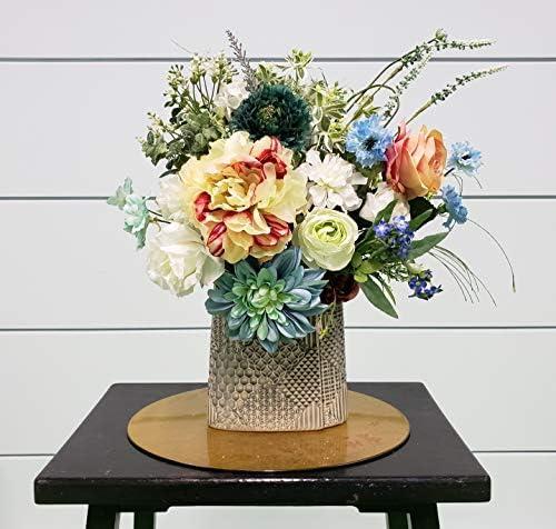 【 波路 】 高級造花アレンジメント・一点限定・アーティフィシャルフラワー・花ギフト・ラッピング無料