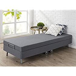 "Zinus Memory Foam Resort Folding Guest Bed with Wheels, Narrow Twin, 30"" x 75"""