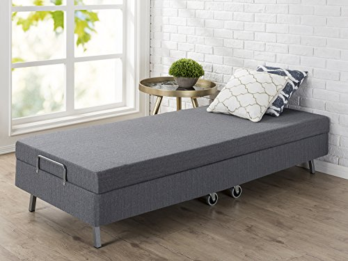 Zinus Memory Foam Resort Folding Guest Bed with Wheels, Narrow Twin, 30